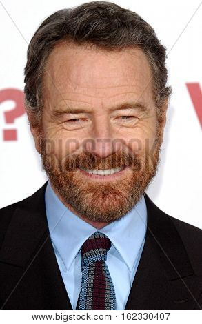 Bryan Cranston at the Los Angeles premiere of 'Why Him?' held at the Regency Bruin Theater in Westwood, USA on December 17, 2016.
