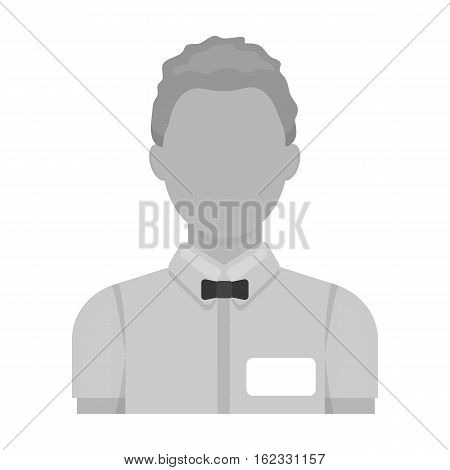Boxing referee icon in monochrome style isolated on white background. Boxing symbol vector illustration.