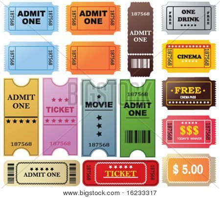 Set with different tickets