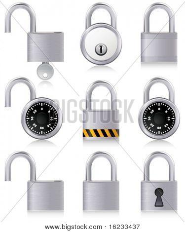 set with padlocks