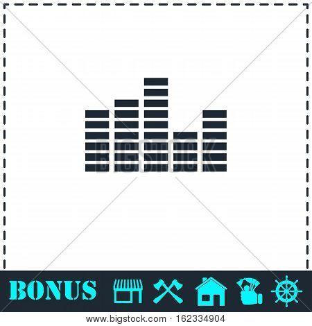 Equalizer icon flat. Simple vector symbol and bonus icon