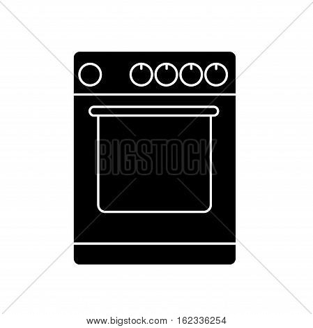 Stove icon isolated on white background. Vector design