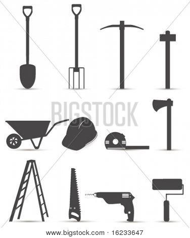 Worker tool. Vector