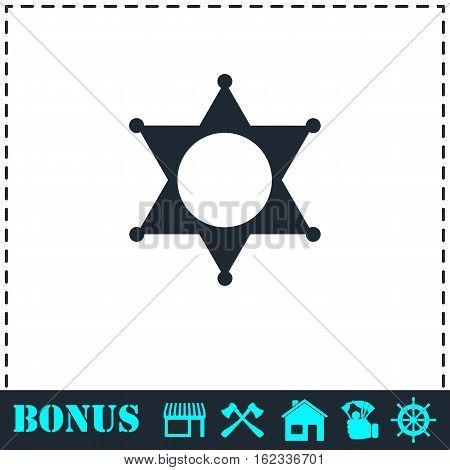 Star icon flat. Simple vector symbol and bonus icon