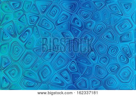 Abstract tile composition with ceramic geometric shapes. Abstract separated fractals. Voronoi background. Stock vector esp 10