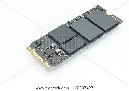 M2 High Speed Ssd Closeup On White Background