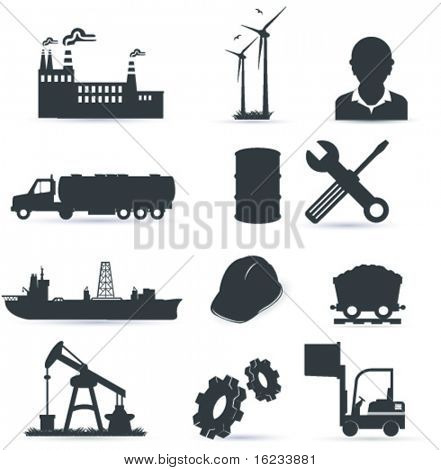 Industry icon poster