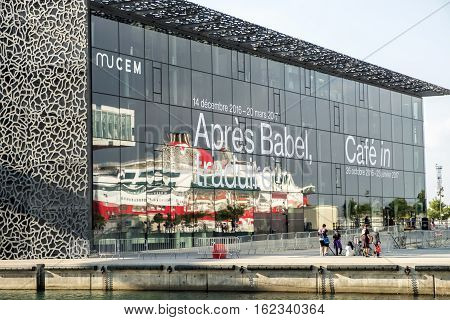 The Museum Of European And Mediterranean Civilisations Called Mucem