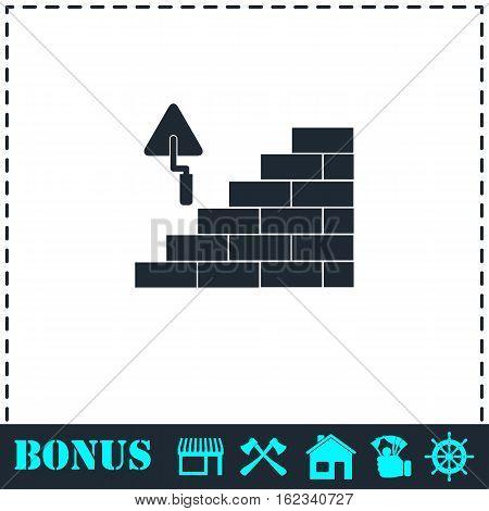 Architecture and Building icon flat. Simple vector symbol and bonus icon