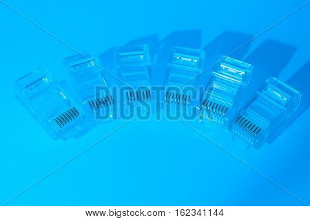 Pile Of Rj45 Ethernet Connectors