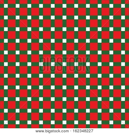 Seamless Christmas Check Pattern. Ideal for wrapping paper designs.