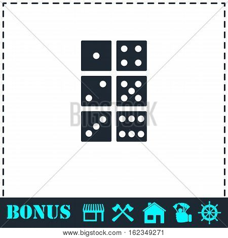 Dice icon flat. Simple vector symbol and bonus icon
