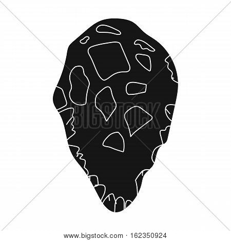 Stone tool icon in black style isolated on white background. Stone age symbol vector illustration.