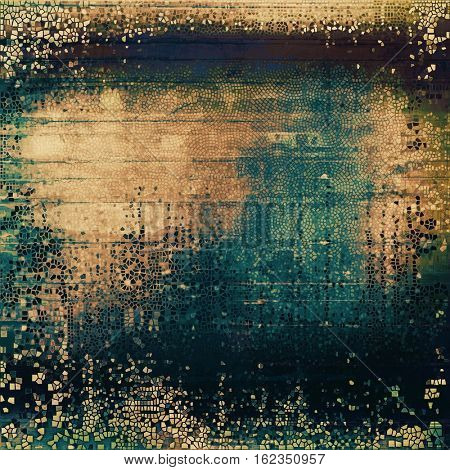 Old grungy stylish composition, vintage texture with different color patterns: yellow (beige); brown; green; blue; cyan; black