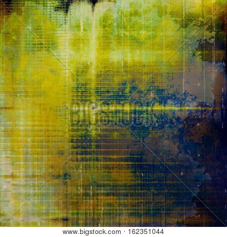Mottled vintage background with grunge texture and different color patterns: yellow (beige); brown; green; blue; cyan