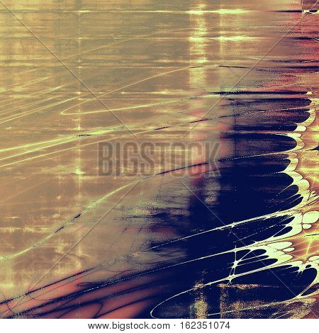 Old vintage backdrop. Original background or aged texture with different color patterns: yellow (beige); brown; gray; blue; purple (violet); pink