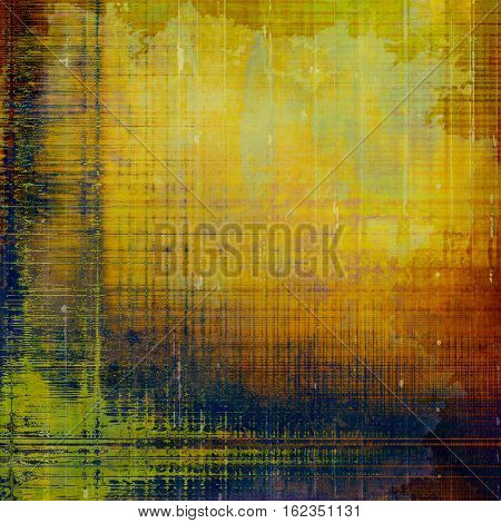 Colorful abstract retro background, aged vintage texture. With different color patterns: yellow (beige); brown; green; blue; red (orange)