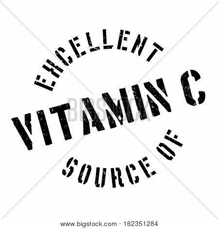 Excellent source of vitamin C stamp. Grunge design with dust scratches. Effects can be easily removed for a clean, crisp look. Color is easily changed.