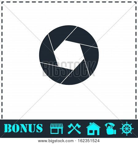 Diaphragm icon flat. Simple vector symbol and bonus icon