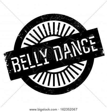 Famous dance style, belly dance stamp. Grunge design with dust scratches. Effects can be easily removed for a clean, crisp look. Color is easily changed.
