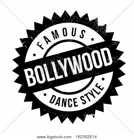 Famous dance style, bollywood stamp. Grunge design with dust scratches. Effects can be easily removed for a clean, crisp look. Color is easily changed.