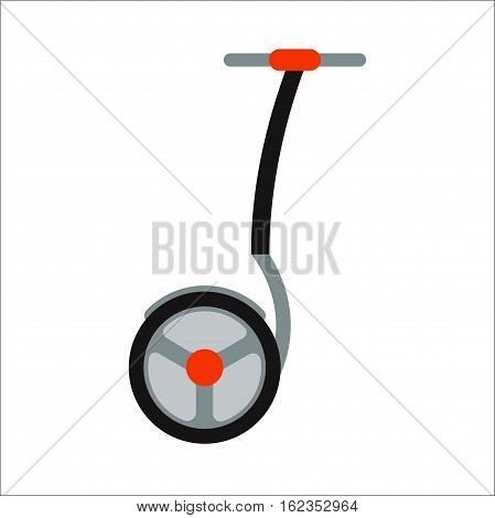 Alternative transport vehicle segway electric gyro scooter balance motion drive vector illustration. Motion active fun rid leisure. Mobility auto speed technology.