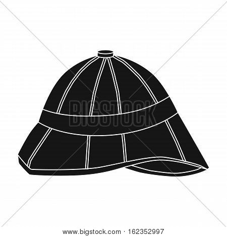 Pith helmet icon in black style isolated on white background. England country symbol vector illustration.