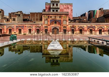 The Wazir Khan Mosque is a Mughal era mosque in the city of Lahore capital of the Pakistani province of Punjab.