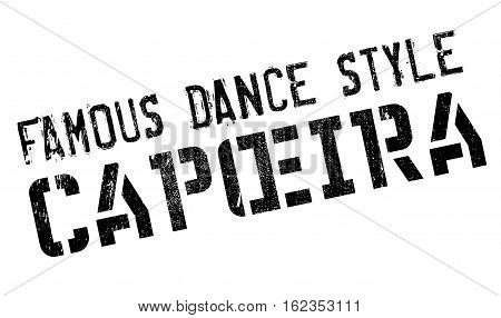 Famous dance style, Capoeira stamp. Grunge design with dust scratches. Effects can be easily removed for a clean, crisp look. Color is easily changed.