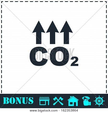 Evaporation icon flat. Simple vector symbol and bonus icon