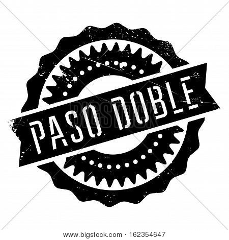 Famous dance style, Paso Doble stamp. Grunge design with dust scratches. Effects can be easily removed for a clean, crisp look. Color is easily changed.