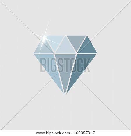 Diamond icon illustration isolated on a white background
