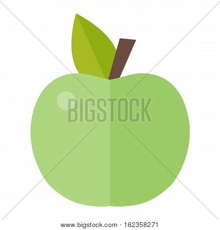 Fresh green apple vitamin refreshment plant on white background. Organic freshness healthy fruit nutritious. Vegetarian ecology organic eat diet natural dessert color food.