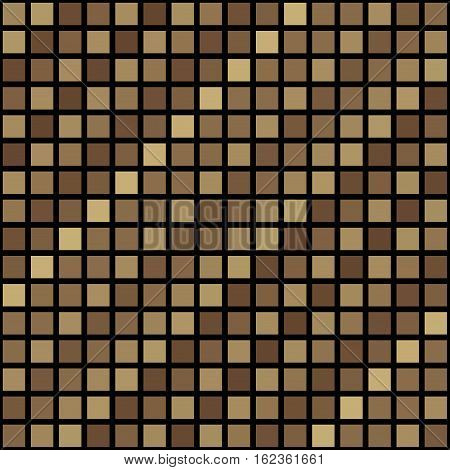 Beige little cubes seamless mosaic or pixelize pixel square pattern