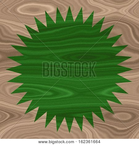 Rustic style beige and green wooden texture shape background