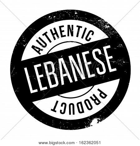 Authentic lebanese product stamp. Grunge design with dust scratches. Effects can be easily removed for a clean, crisp look. Color is easily changed.
