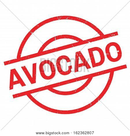 Avocado rubber stamp. Grunge design with dust scratches. Effects can be easily removed for a clean, crisp look. Color is easily changed.