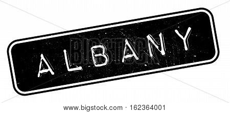 Albany rubber stamp. Grunge design with dust scratches. Effects can be easily removed for a clean, crisp look. Color is easily changed.