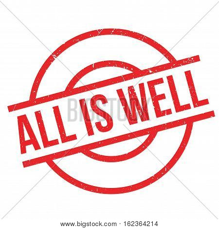 All Is Well rubber stamp. Grunge design with dust scratches. Effects can be easily removed for a clean, crisp look. Color is easily changed.