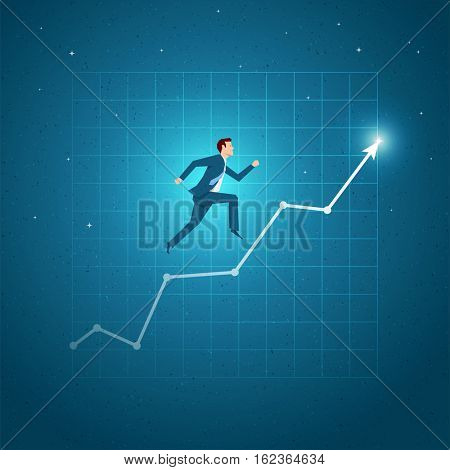 Business concept vector illustration. Growth, balance, success, business opportunities concept. Elements are layered separately in vector file.