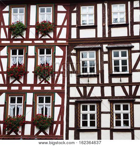 Old Framework Building In Bernkastel-kues, Germany