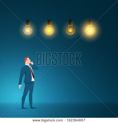 Business concept vector illustration. Choice, idea, creativity, selection concept. Elements are layered separately in vector file.