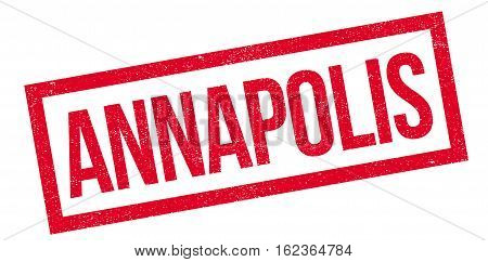 Annapolis rubber stamp. Grunge design with dust scratches. Effects can be easily removed for a clean, crisp look. Color is easily changed.