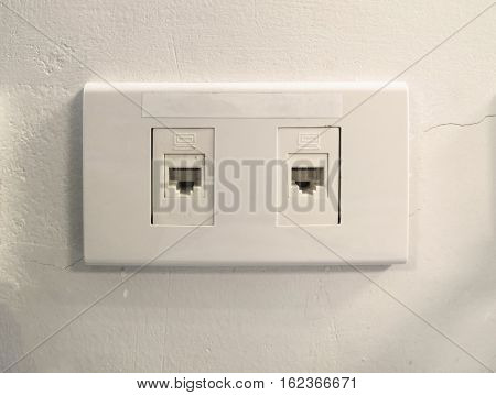 The Network Ethernet port in the home