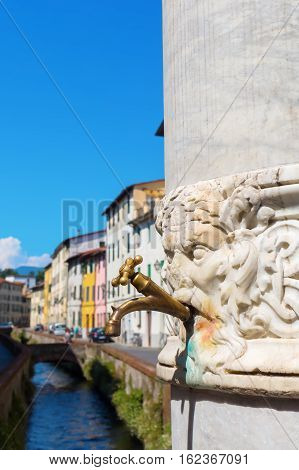 Drinking Fountain In Lucca, Italy