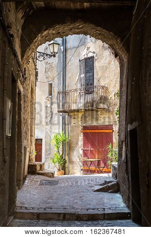 Picturesque Archway In Fayence, France