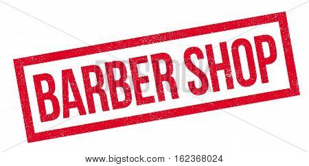 Barber Shop rubber stamp. Grunge design with dust scratches. Effects can be easily removed for a clean, crisp look. Color is easily changed.