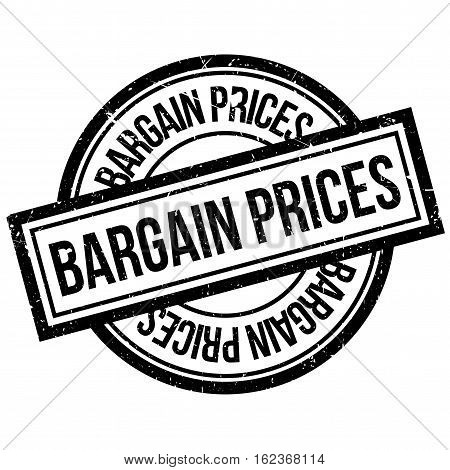 Bargain Prices rubber stamp. Grunge design with dust scratches. Effects can be easily removed for a clean, crisp look. Color is easily changed.