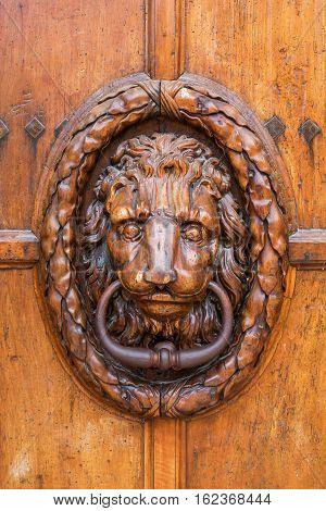 Old Doorknocker At A Wooden Door In Aix-en-provence