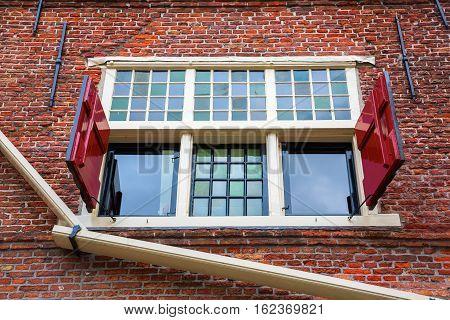 Window Of A Historic Building In Hoorn, Netherlands
